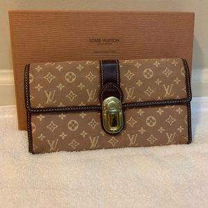 Authentic Louis Vuitton Mini Lin Long wallet